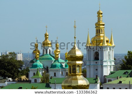 Kiev Pechersk Lavra monastery in Kiev, Ukraine - stock photo