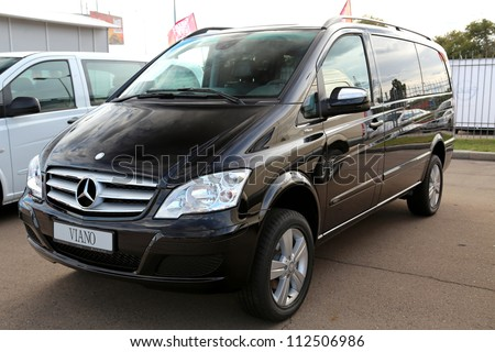 "KIEV - SEPTEMBER 7: Mercedes-Benz Viano (V-Class) at yearly automotive-show ""Capital auto show 2012"". September 7, 2012 in Kiev, Ukraine"
