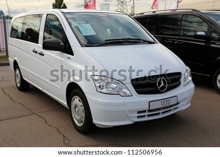 "KIEV - SEPTEMBER 7: Mercedes-Benz Vito (V-Class) at yearly automotive-show ""Capital auto show 2012"". September 7, 2012 in Kiev, Ukraine - stock photo"