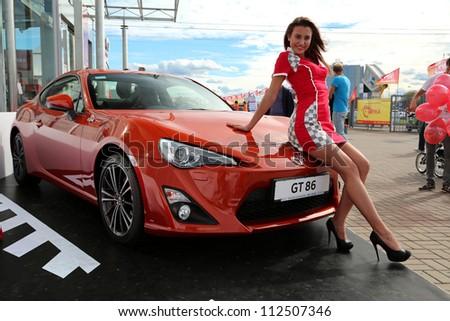 "KIEV - SEPTEMBER 7: Toyota GT 86 at yearly automotive-show ""Capital auto show 2012"". September 7, 2012 in Kiev, Ukraine - stock photo"