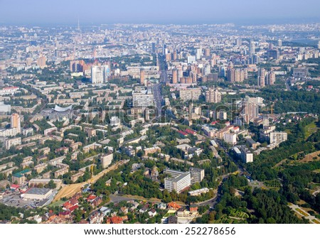Kiev - the capital of Ukraine. View from above. - stock photo