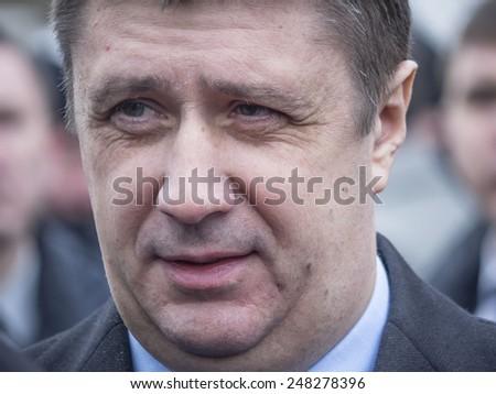 KIEV, UKRAINE - January 29, 2015: Vyacheslav Kirilenko - Ukrainian politician, Deputy Prime Minister for Humanitarian Affairs and the Minister of Culture of Ukraine.   - stock photo
