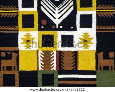 "KIEV, UKRAINE - MAY 17, 2015: Carpet with ukrainian ornament -- The International Festival of Traditional Culture ""EtnoSvit""  - stock photo"