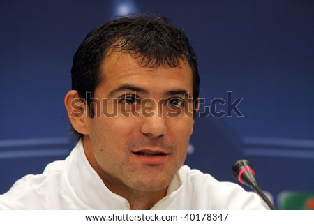 KIEV, UKRAINE - NOVEMBER 3: Dejan Stankovic of FC Interazionale Milano smiles during a press conference before UEFA Champions League football match against FC Dynamo Kyiv on November 3, 2009 in Kiev.