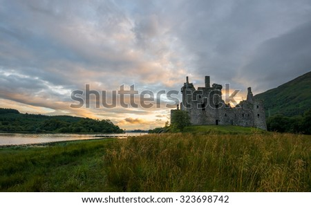 Kilchurn Castle at Loch Awe, Scotland - stock photo