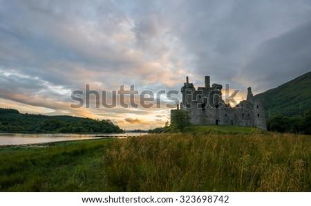 Kilchurn Castle at Loch Awe, Scotland - stock photo