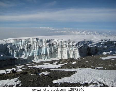 Kilimanjaro glacier - stock photo