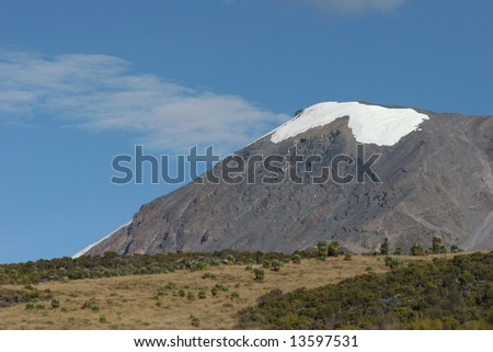 Kilimanjaro, the highest mountain in Africa (5.895 m), Tanzania - stock photo