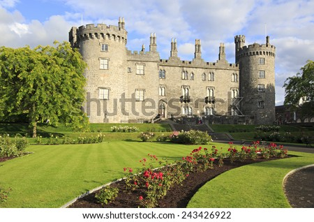 Kilkenny Castle. Historic landmark in the town of Kilkenny in Ireland.