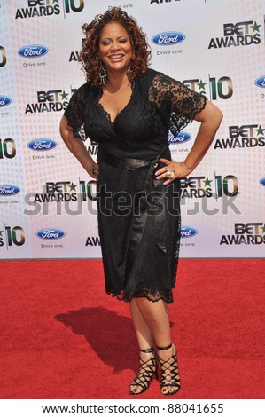 Kim Coles at the 2010 BET Awards at the Shrine Auditorium, Los Angeles. June 27, 2010  Los Angeles, CA Picture: Paul Smith / Featureflash - stock photo