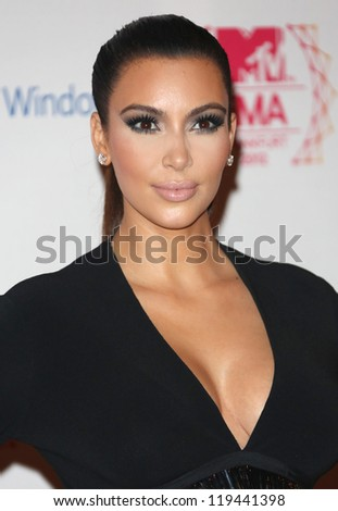 Kim Kardashian arriving for the The MTV EMA's 2012 held at Festhalle, Frankfurt, Germany. 11/11/2012 Picture by: Henry Harris