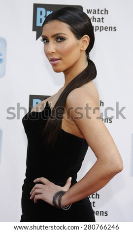 Kim Kardashian at the 2009 Bravo's A-List Awards held at the Orpheum Theatre in Los Angeles on April 5, 2009.  - stock photo