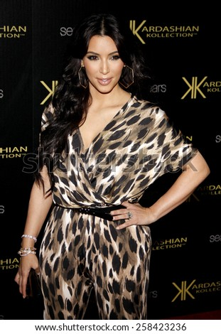 Kim Kardashian at the Kardashian Kollection Launch Party held at the Colony in Hollywood on August 17, 2011. - stock photo