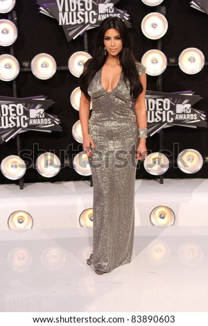 Kim Kardashian at the 2011 MTV Video Music Awards Arrivals, Nokia Theatre LA Live, Los Angeles, CA 08-28-11