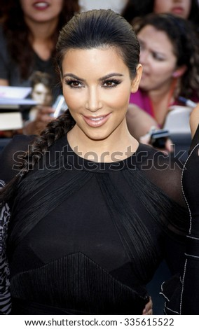 "Kim Kardashian at ""The Twilight Saga: Eclipse"" Los Angeles Premiere held at the Nokia Live Theater in Los Angeles, California, United States on June 24, 2010."