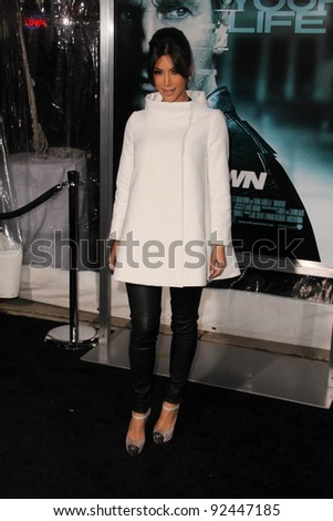 "Kim Kardashian at the ""Unknown"" Los Angeles Premiere, Village Theater, Westwood, CA. 02-16-11"