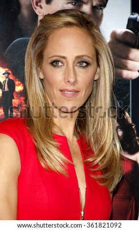 "Kim Raver at the Los Angeles premiere of ""Gangster Squad"" held at the Grauman's Chinese Theatre in Los Angeles, USA on January 7, 2013. - stock photo"