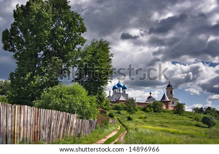 Kind on Vysotsky  monastery in the city of Serpukhov, the Moscow area