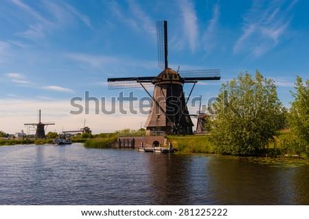 Kinderdijk Holland - stock photo