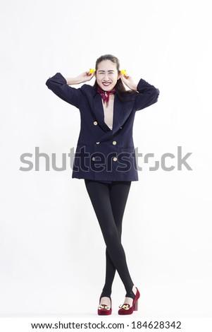 kindly working woman - stock photo