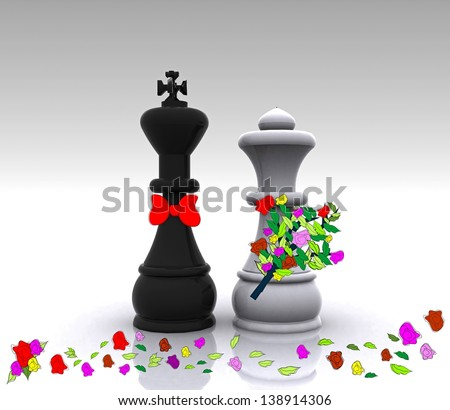 King and Queen - Wedding - stock photo