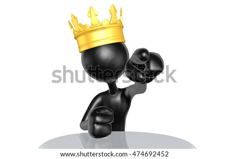 King Character 3D Illustration