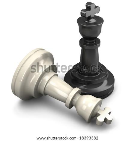King chess mate - stock photo