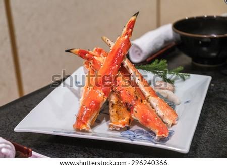 king crab leg - stock photo