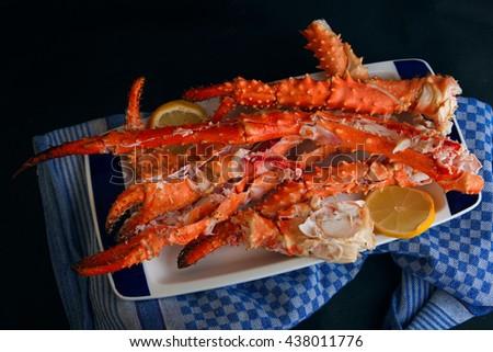 King crab legs - stock photo