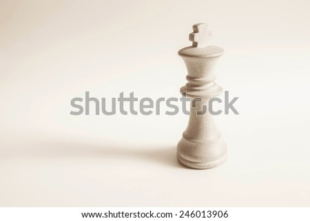 king from white set (chess) - stock photo