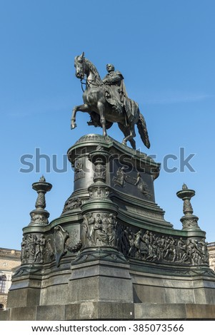 King Johann II. Monument in Dresden, Saxony, Germany
