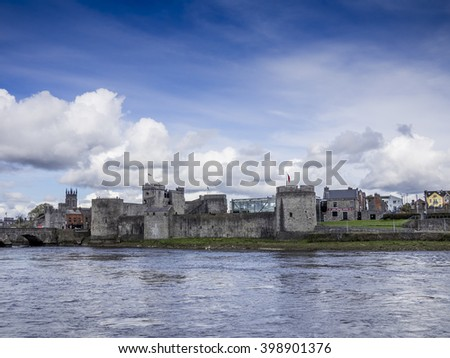 King johns castle, Limerick, Ireland - stock photo