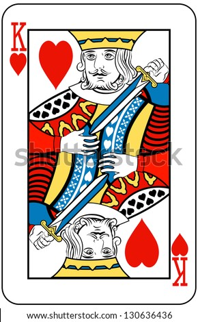 King of Hearts playing card - stock photo