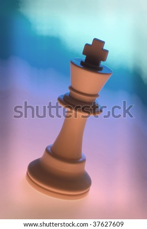 King on Multicolor Background - stock photo