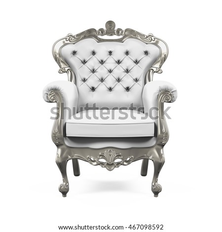 King Throne Chair. 3D rendering