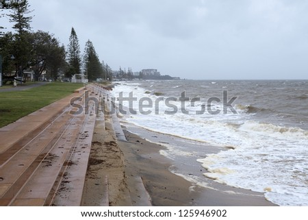King Tide in Queensland, Australia - stock photo