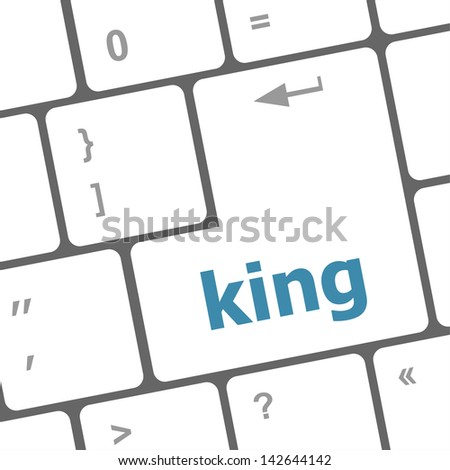 king word on computer keyboard original illustration, raster