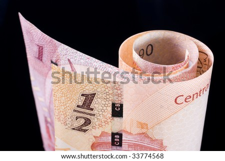 Kingdom of Bahrain currency banknote roll - stock photo
