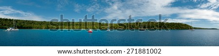 Kingdom of Tonga Polynesia Paradise Crystal Water Poster Panorama - stock photo