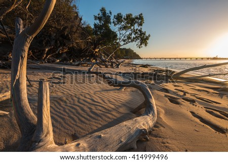 kingfisher bay in australia - fraser island - stock photo
