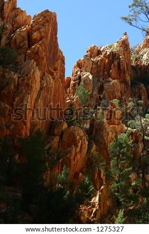 kings-canyon australia - stock photo