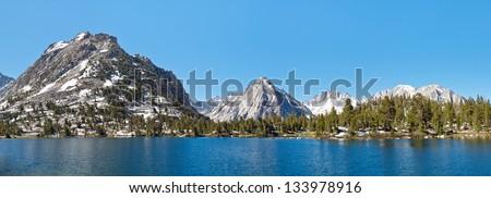 Kings Canyon National Park Alpine Lake Panorama, Sierra Nevada, California, USA. - stock photo