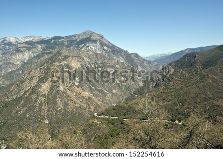 Kings Canyon National Park vista, Southern Sierra Nevada, California - stock photo