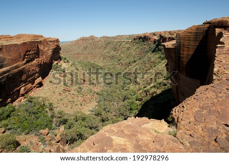 Kings Canyon - Nothern Territory - Australia  - stock photo