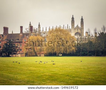 Kings College Chapel, Cambridge University - stock photo