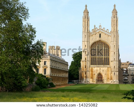 Kings' College Chapel - Cambridge University UK - stock photo