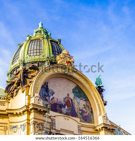 Kings Court on the Republiky Square in Prague, Czech Republic - stock photo