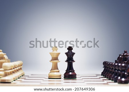 Kings Face to Face - stock photo