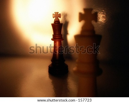 Kings in Check - stock photo