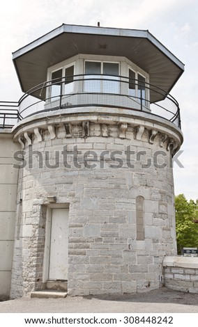 Kingston Penitentiary Ontario Canada abandoned stone - stock photo